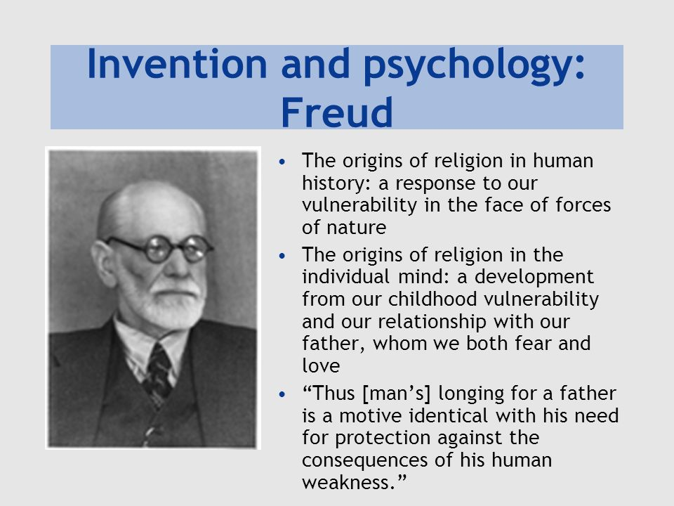 Invention and psychology: Freud