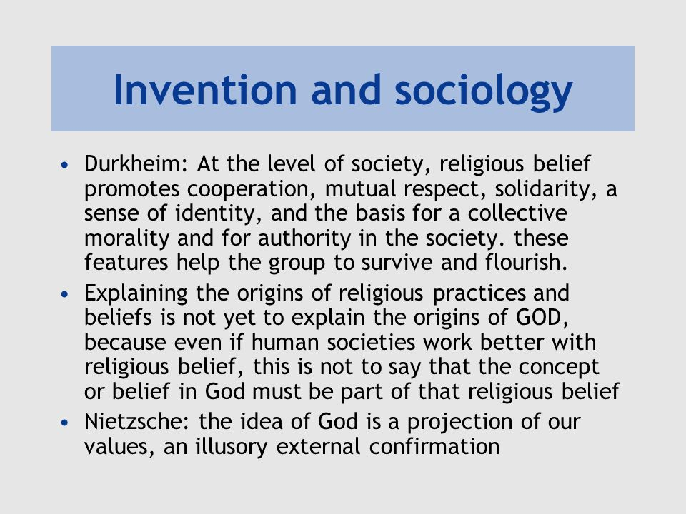 Invention and sociology