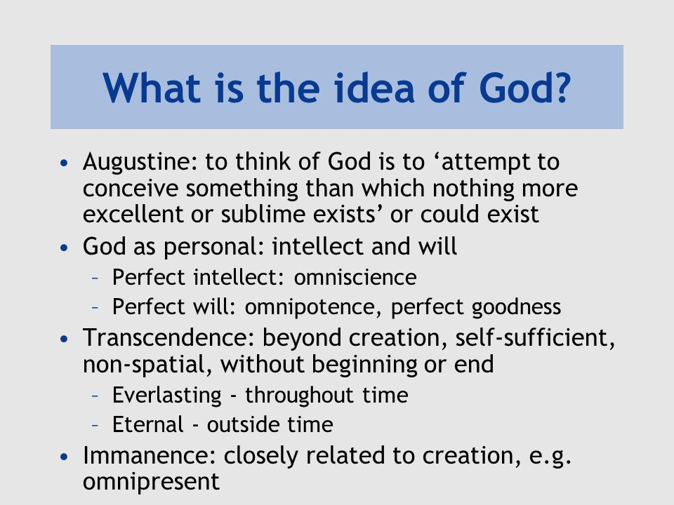 What is the idea of God