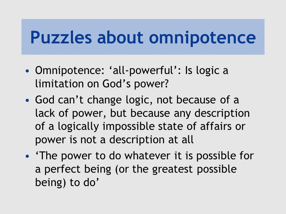 Puzzles about omnipotence
