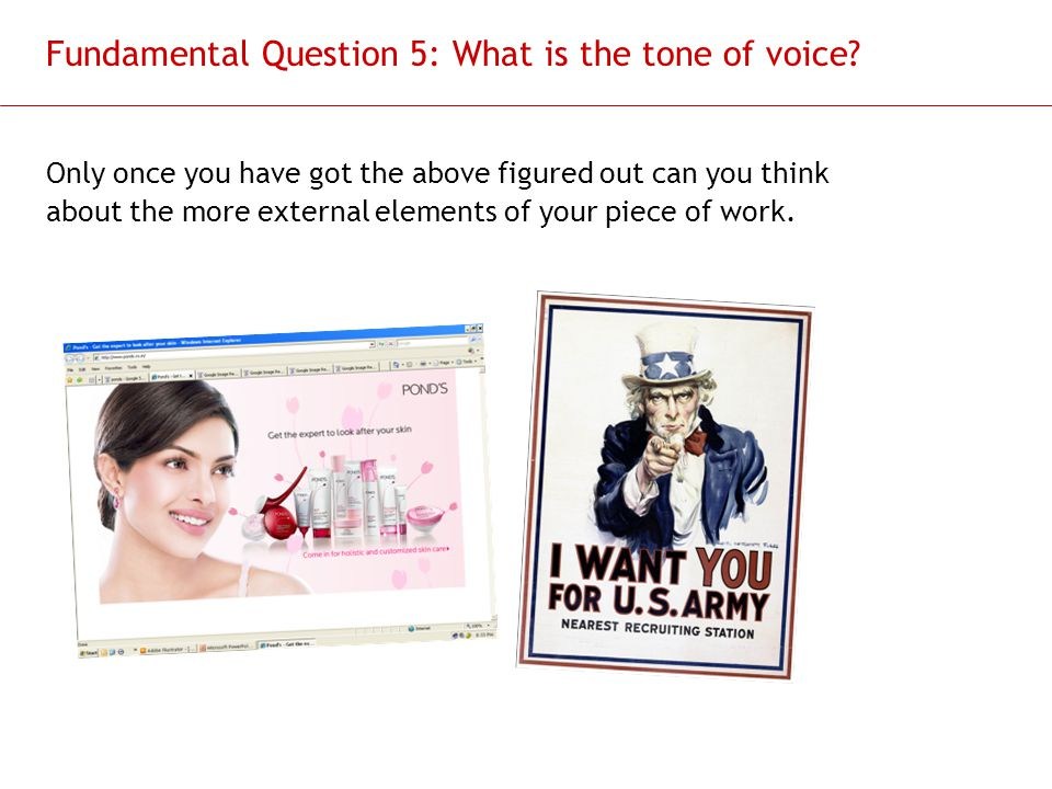 Fundamental Question 5: What is the tone of voice