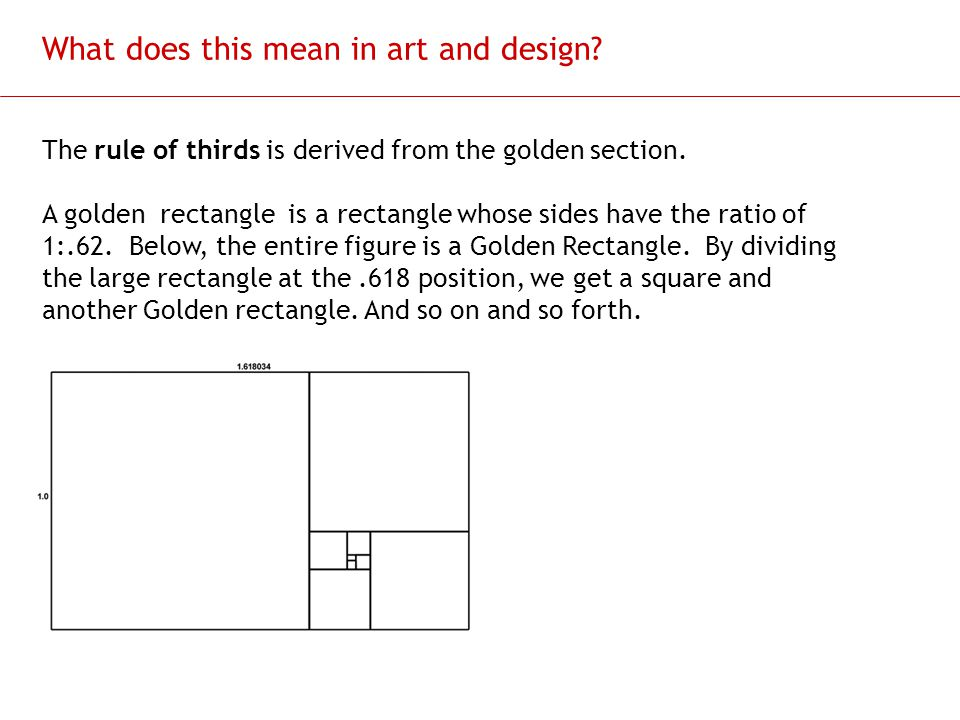 What does this mean in art and design