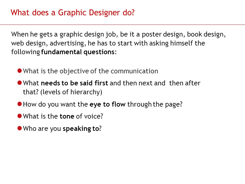 What does a Graphic Designer do