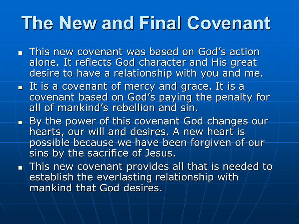 The New and Final Covenant