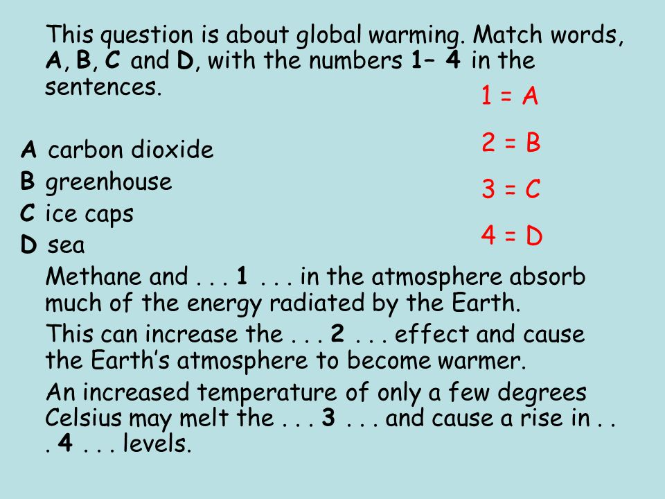 This question is about global warming