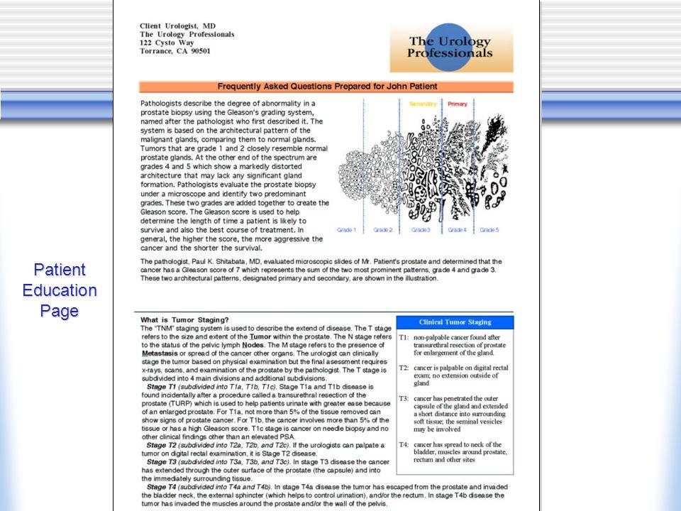 Patient Education Page