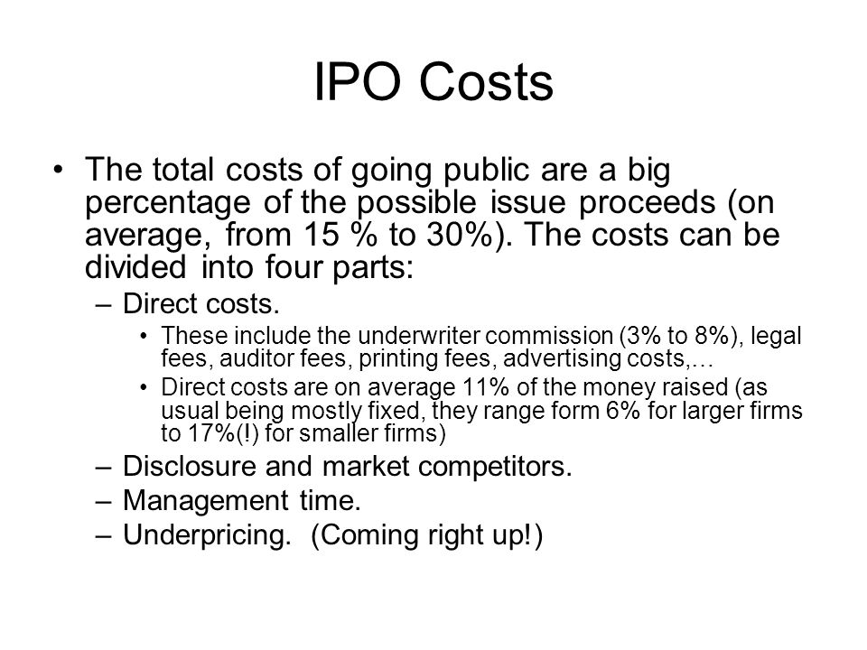 IPO Costs