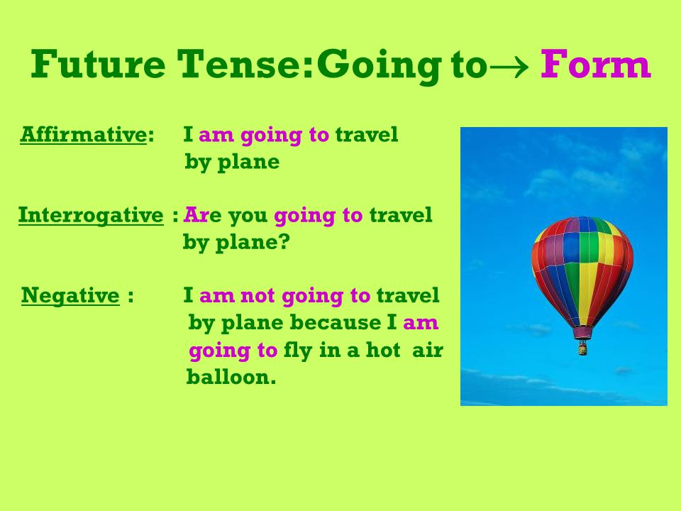 Future Tense:Going to Form