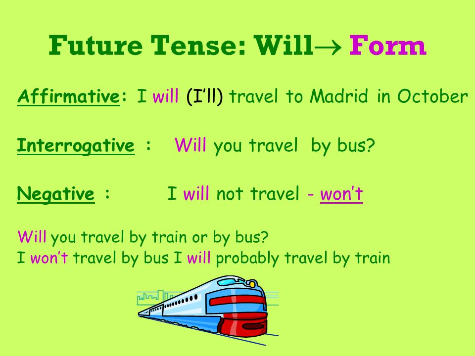 Future Tense: Will Form
