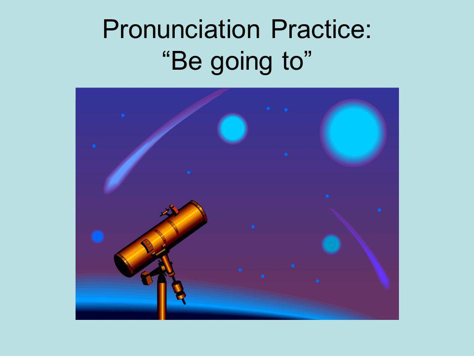 Pronunciation Practice: Be going to
