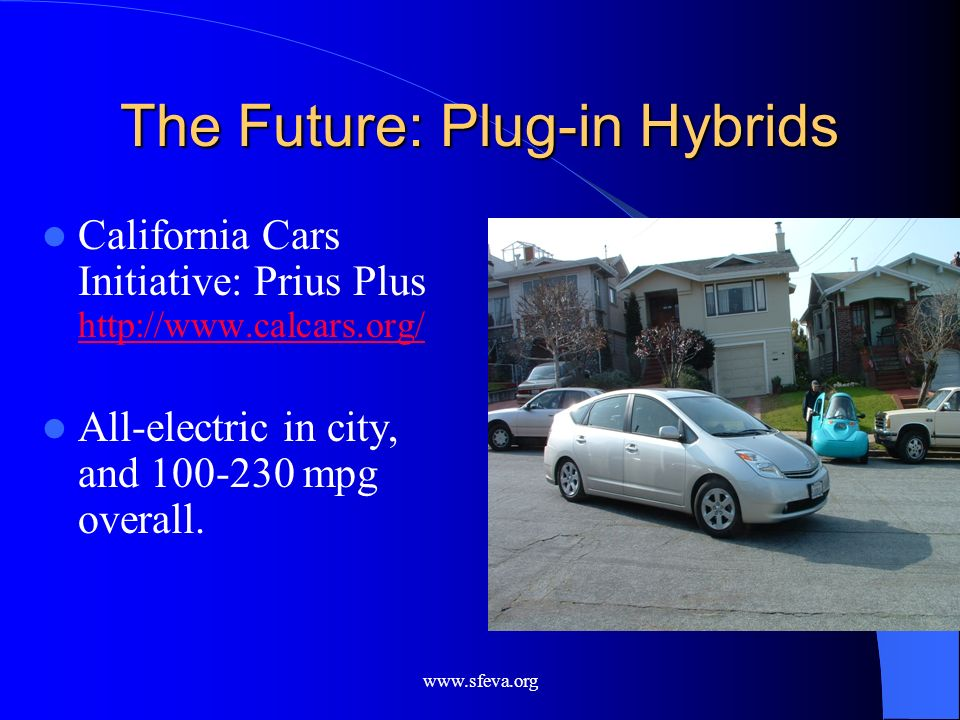 The Future: Plug-in Hybrids