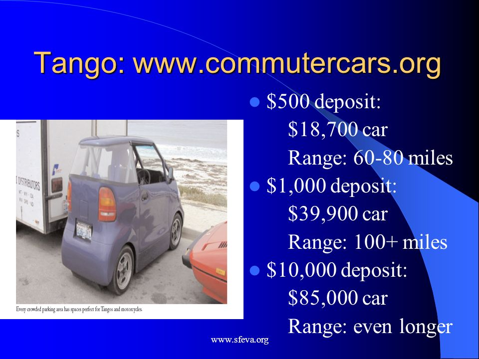 Tango: www.commutercars.org