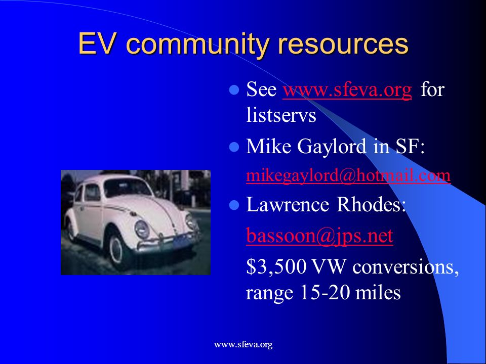 EV community resources