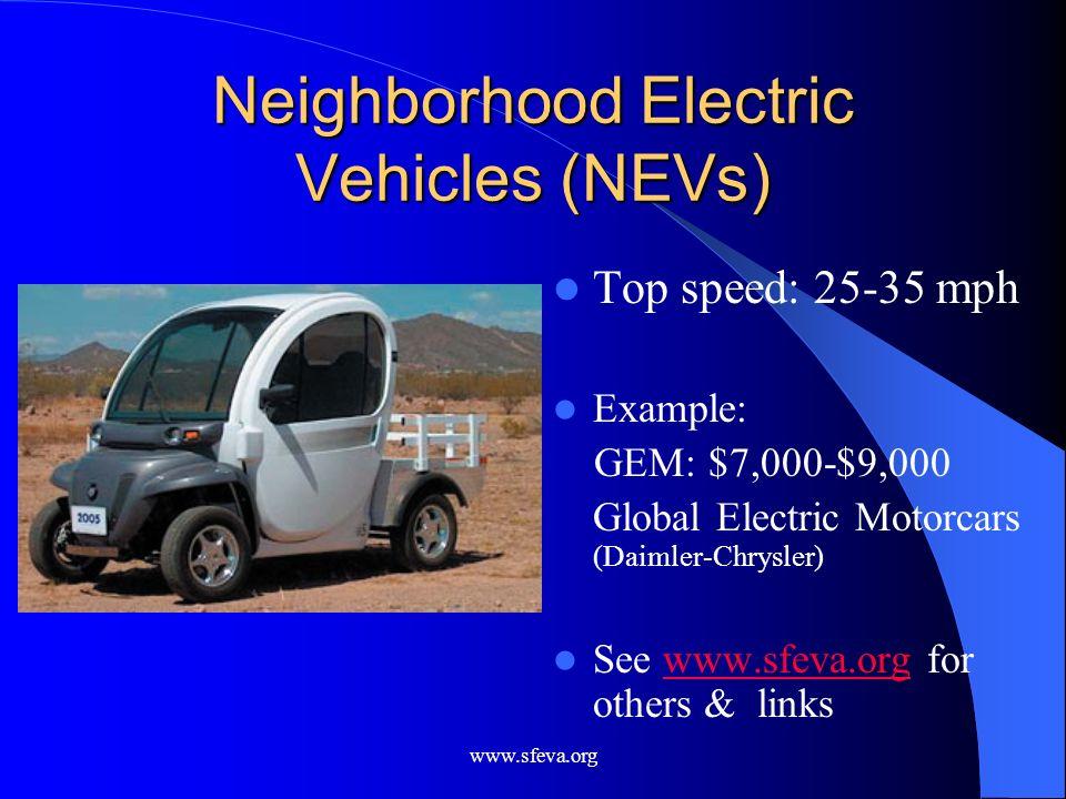 Neighborhood Electric Vehicles (NEVs)