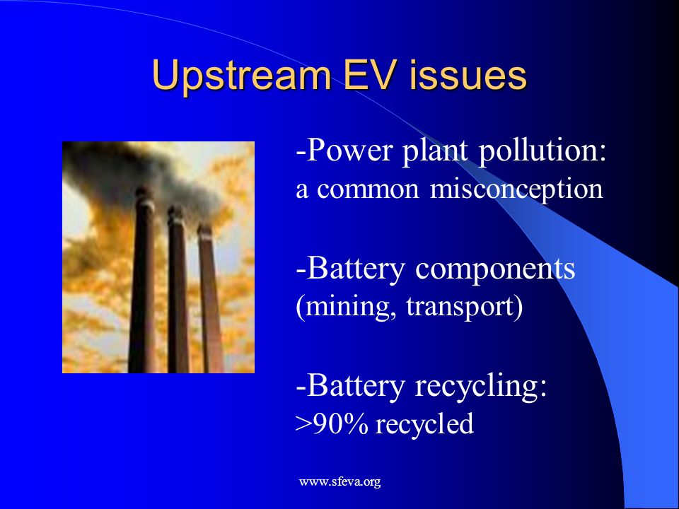 Upstream EV issues Power plant pollution: a common misconception