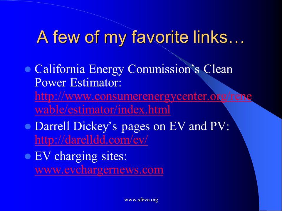 A few of my favorite links…