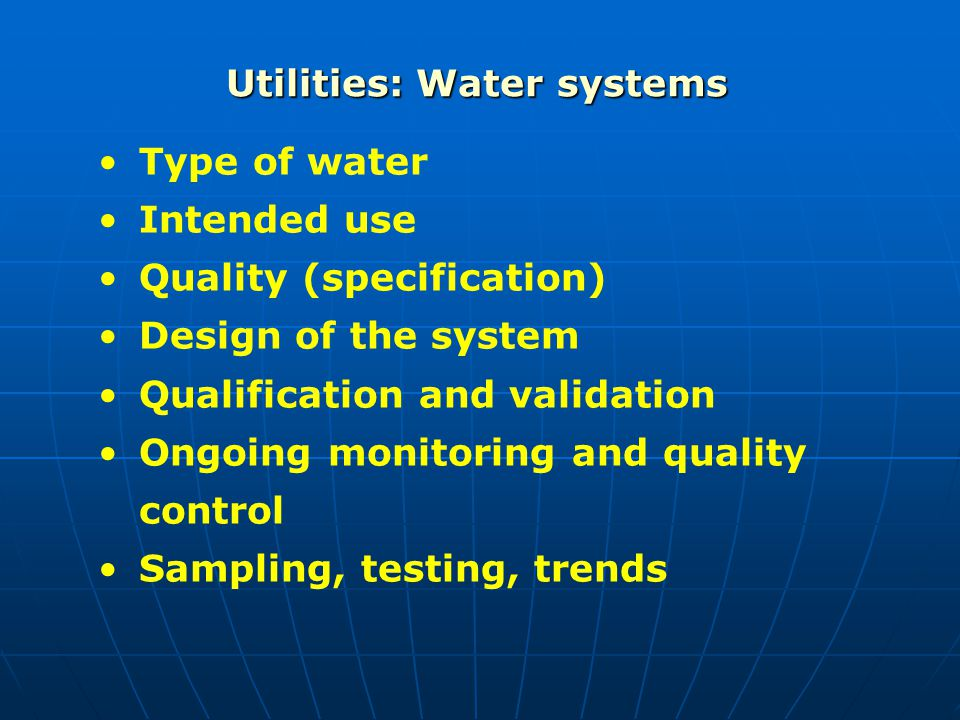Utilities: Water systems