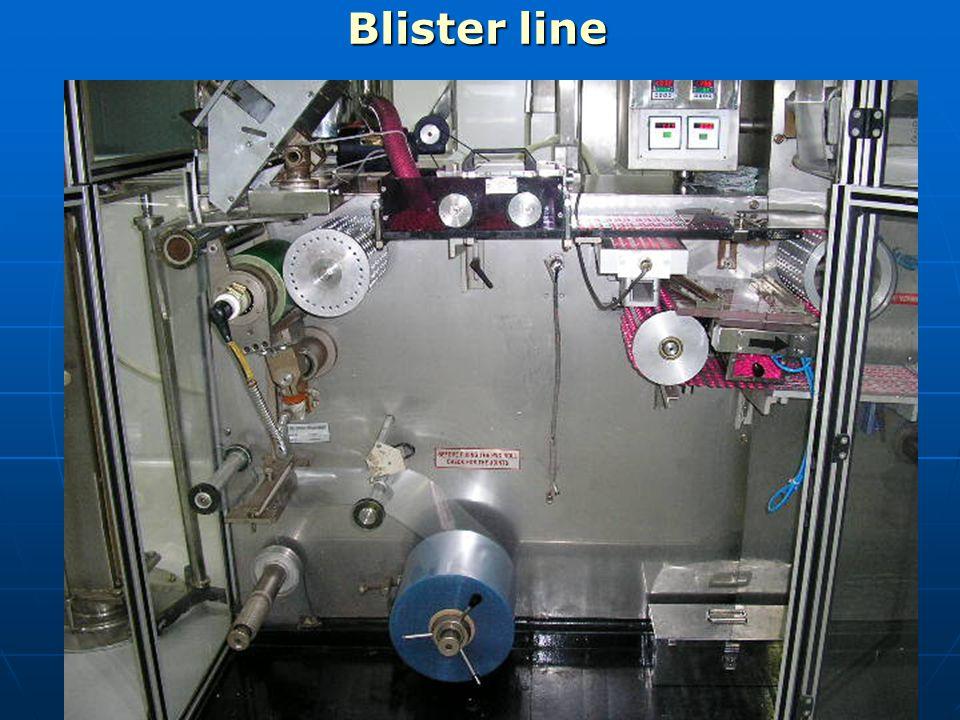 Blister line