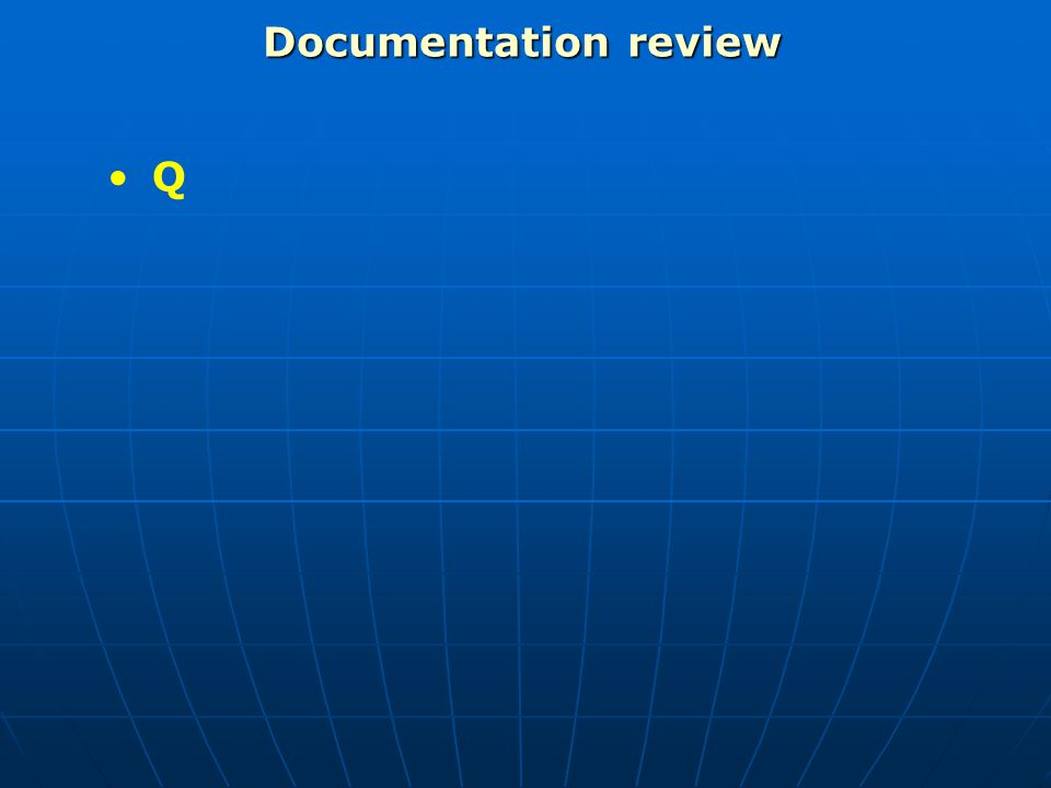 Documentation review Q