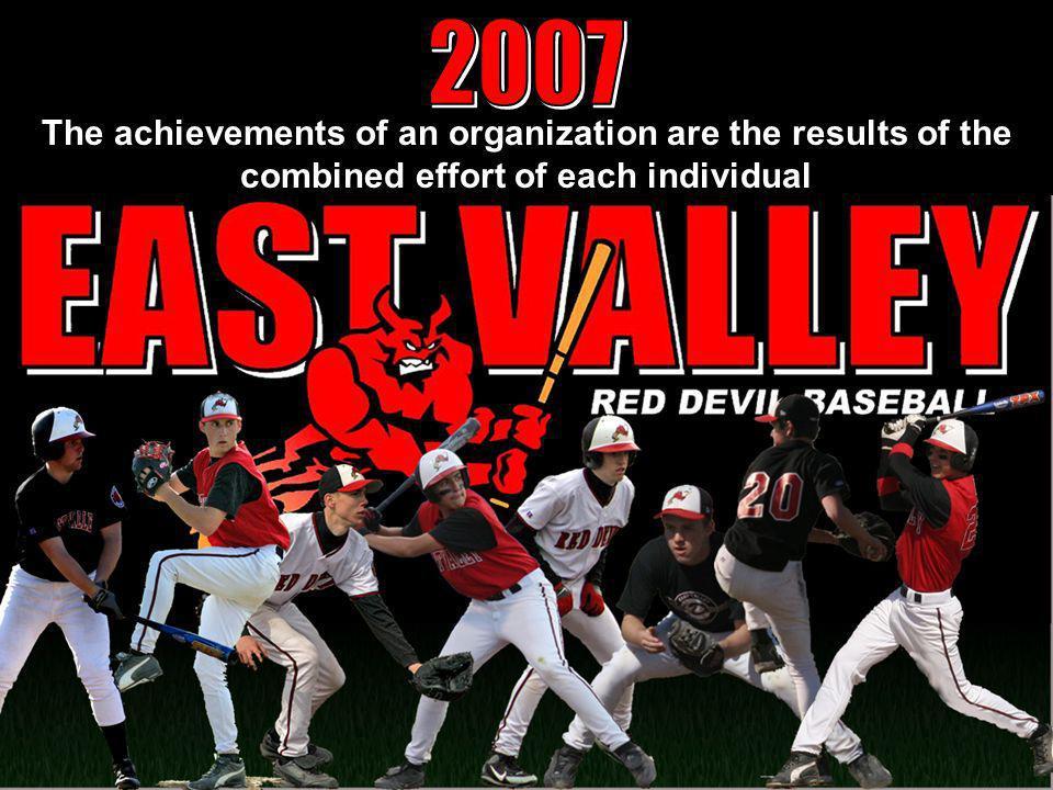 2007 The achievements of an organization are the results of the combined effort of each individual