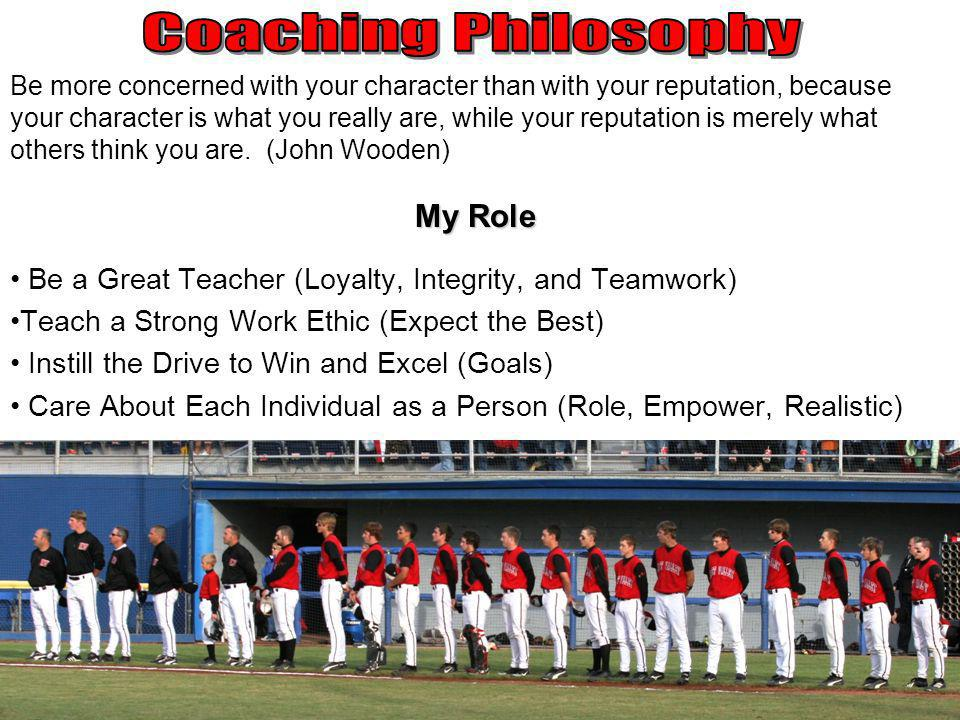 Coaching Philosophy My Role