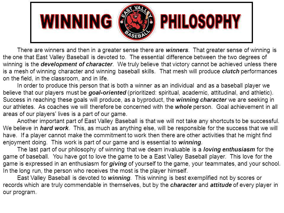 WINNING PHILOSOPHY.