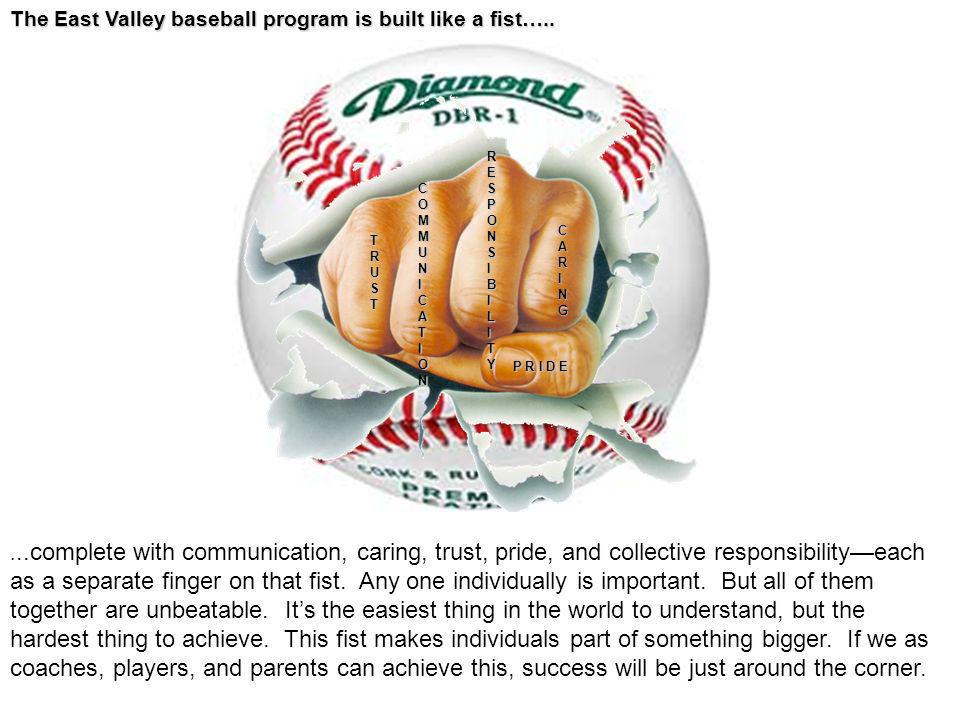 The East Valley baseball program is built like a fist…..