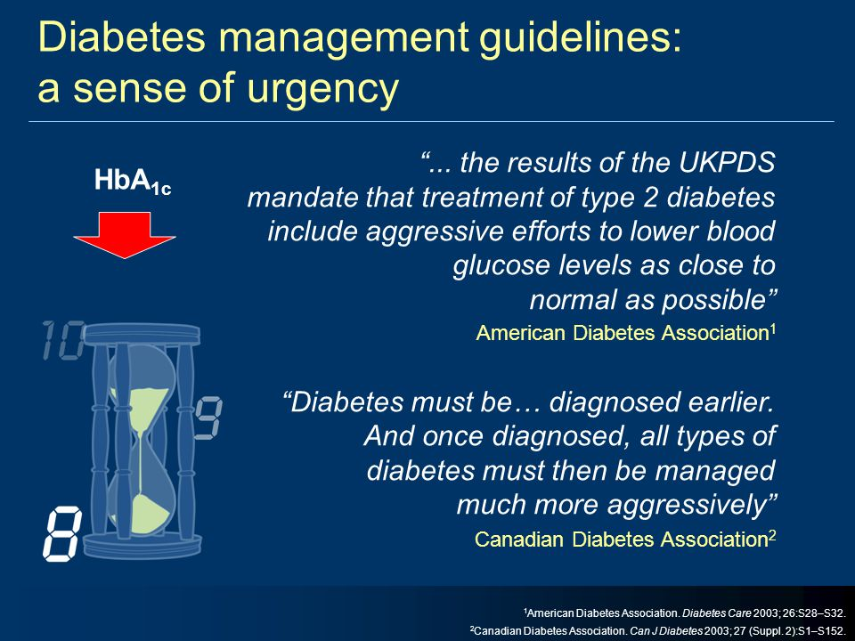 Diabetes management guidelines: a sense of urgency