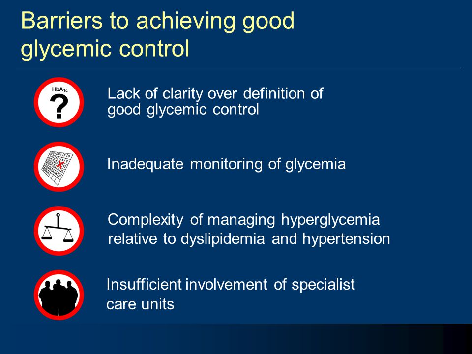 Barriers to achieving good glycemic control