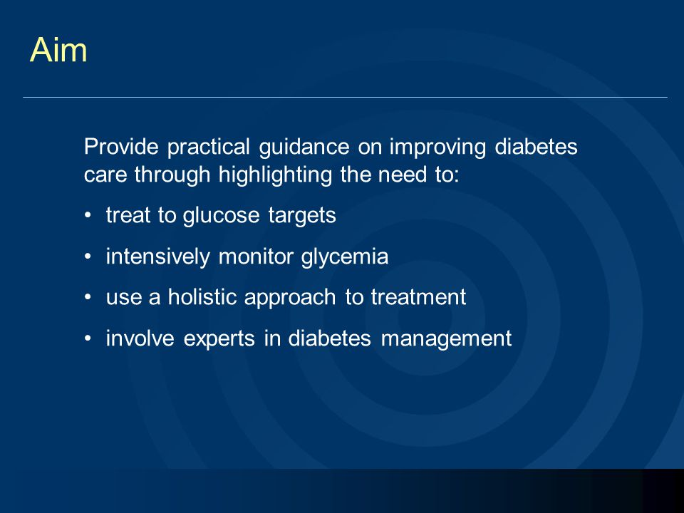 Aim Provide practical guidance on improving diabetes