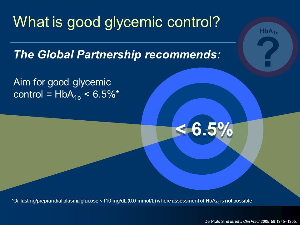 What is good glycemic control