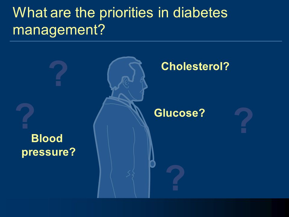 What are the priorities in diabetes management