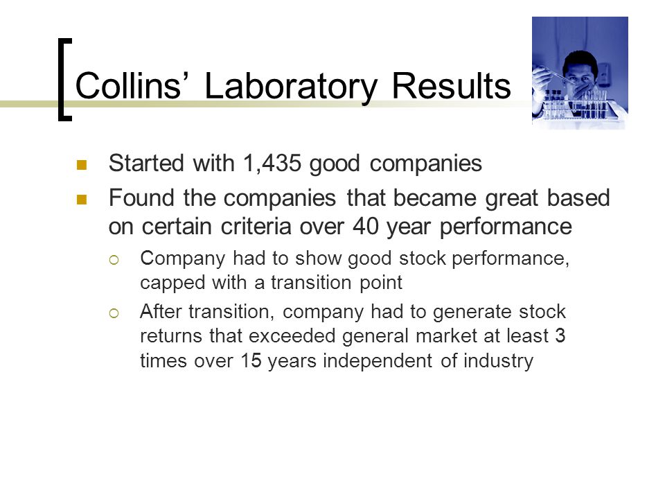 Collins' Laboratory Results