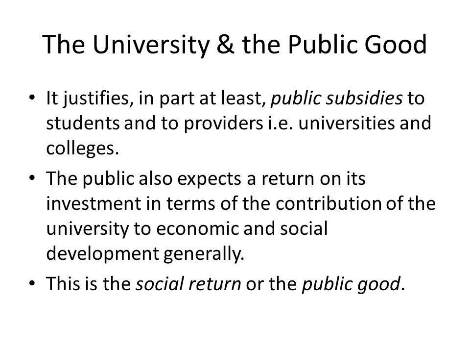 The University & the Public Good