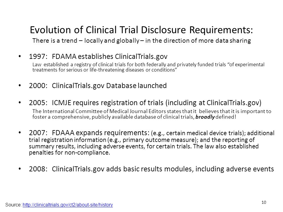 Evolution of Clinical Trial Disclosure Requirements: There is a trend – locally and globally – in the direction of more data sharing