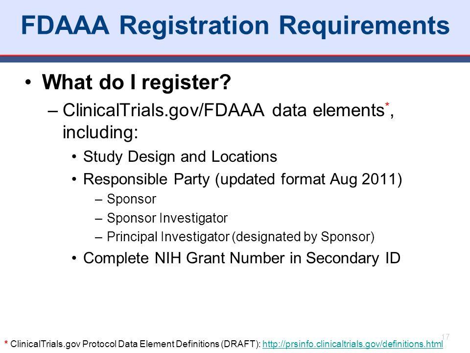FDAAA Registration Requirements