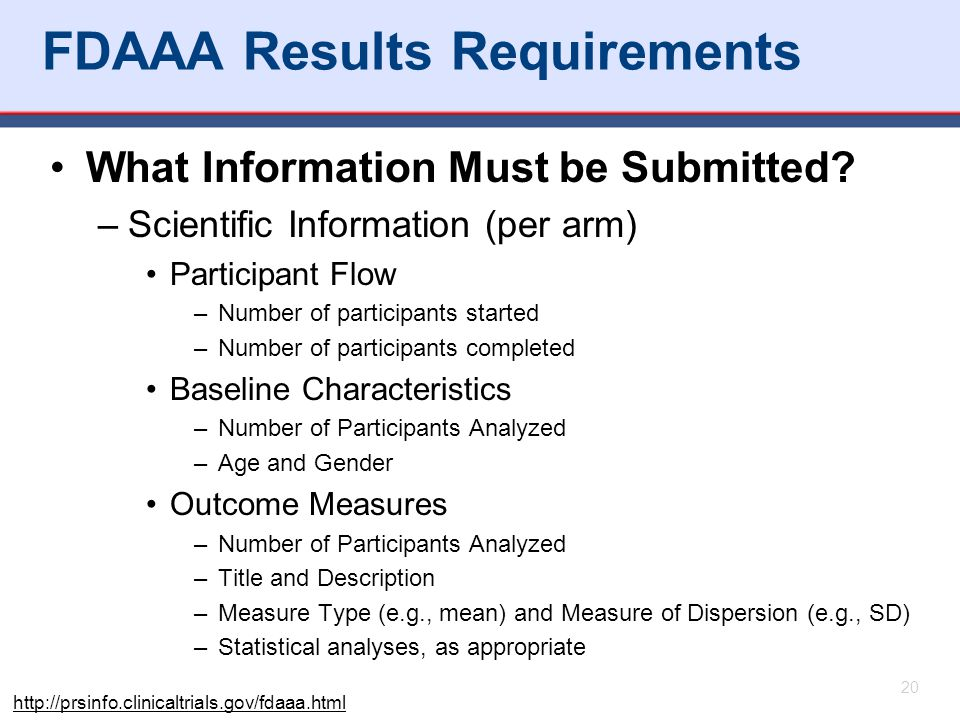 FDAAA Results Requirements