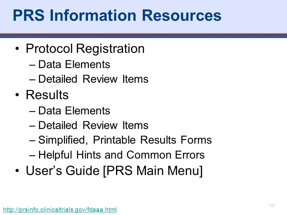 PRS Information Resources