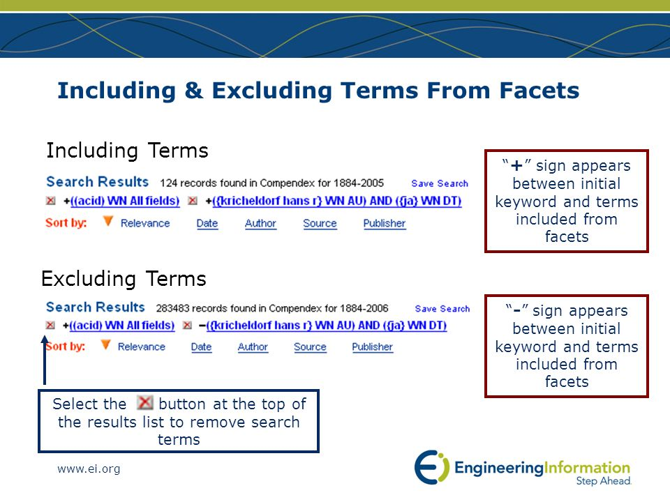 Including & Excluding Terms From Facets