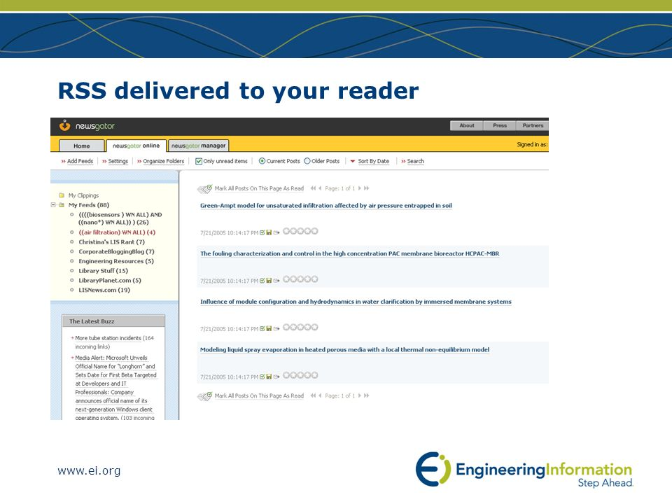 RSS delivered to your reader
