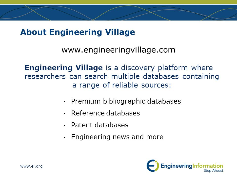 About Engineering Village