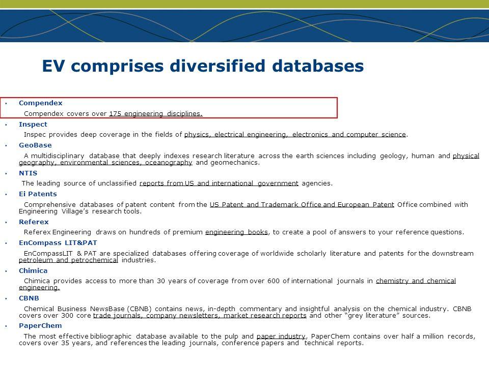 EV comprises diversified databases