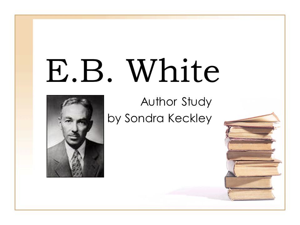 Author Study by Sondra Keckley