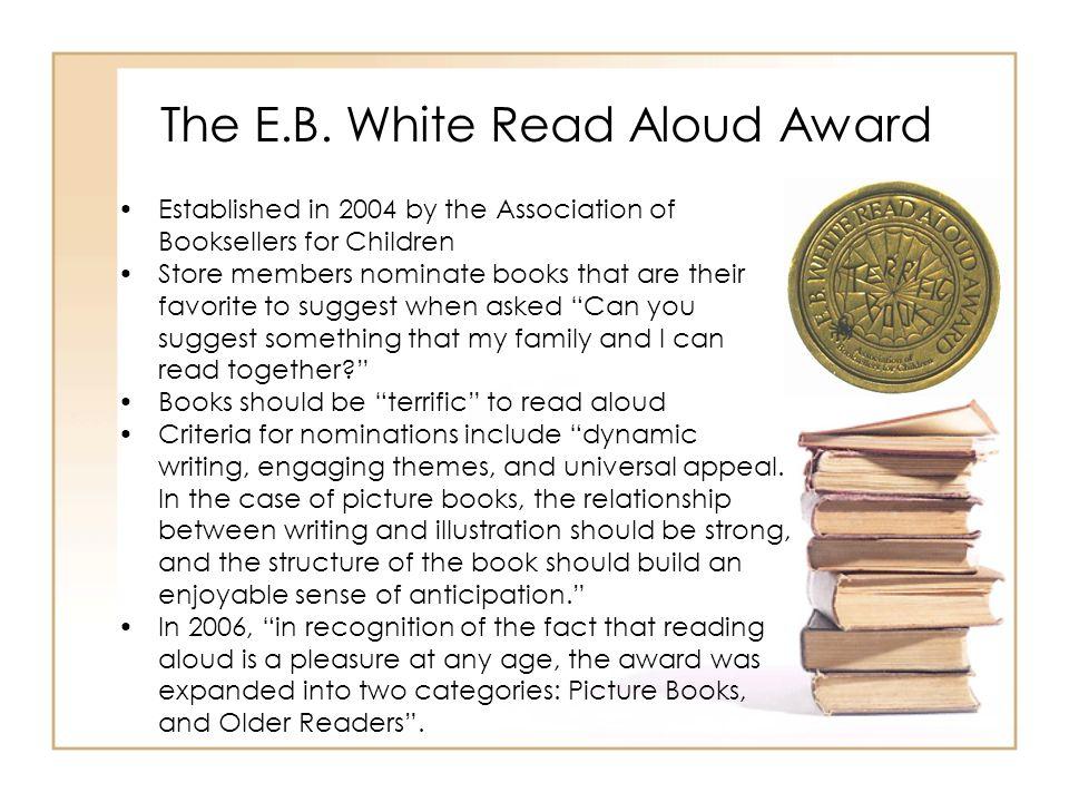 The E.B. White Read Aloud Award