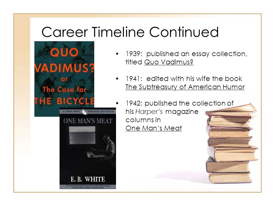 Career Timeline Continued