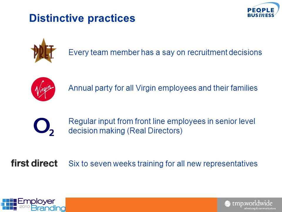 Distinctive practices