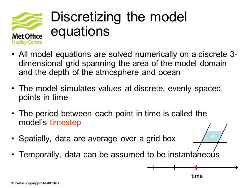 Discretizing the model equations