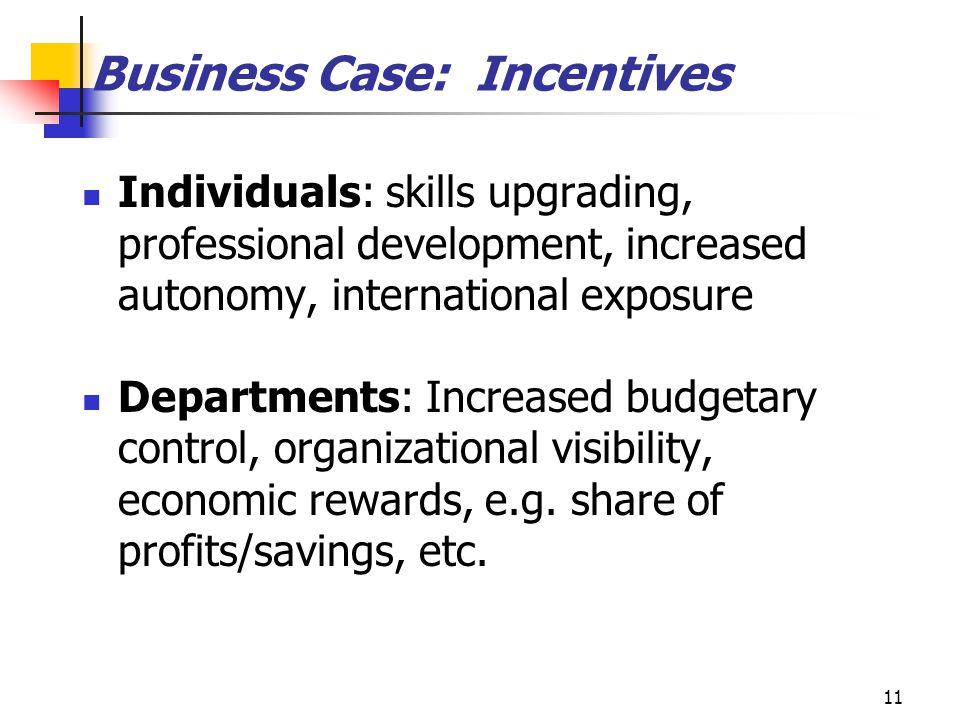 Business Case: Incentives