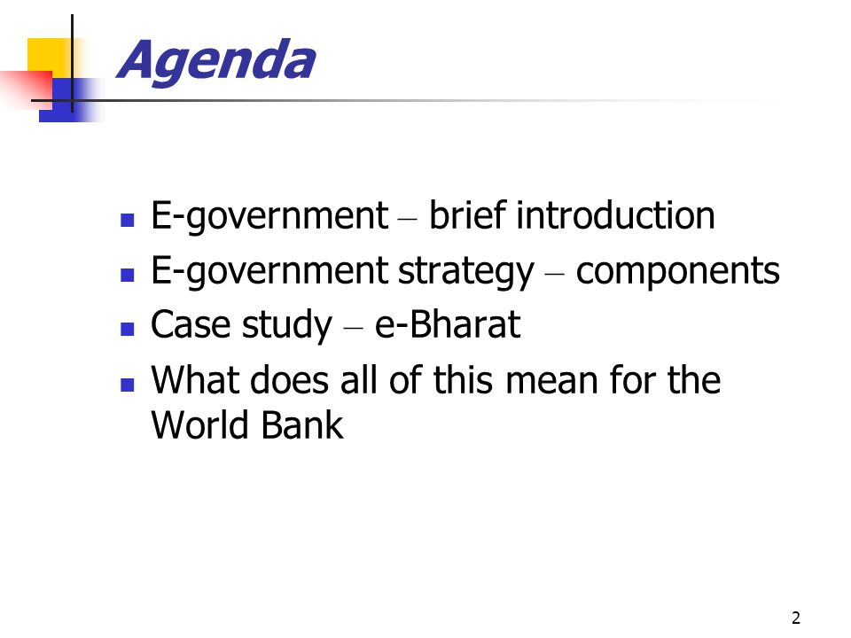 Agenda E-government – brief introduction