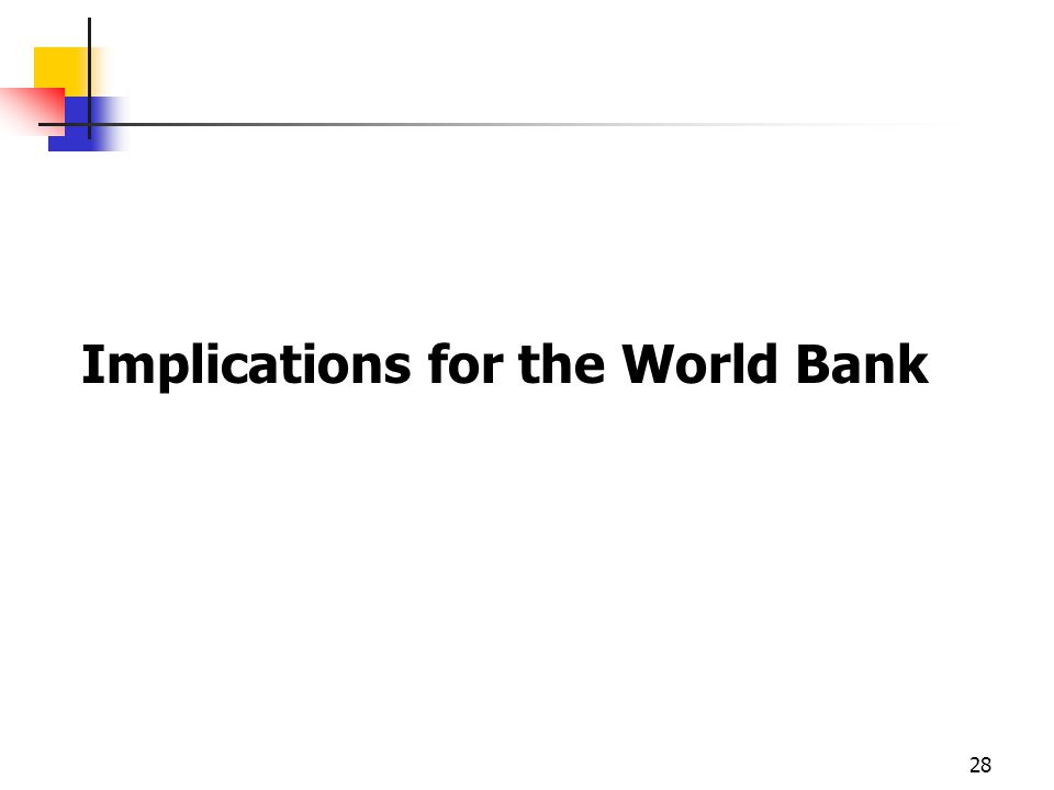 Implications for the World Bank